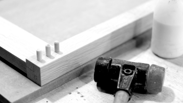 Mallet and dowels